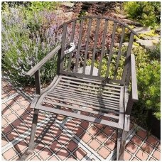 Supama metalinė lauko kėdė